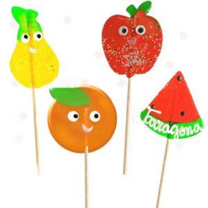 Piruletas Artesanales Formas Frutas Personalizadas