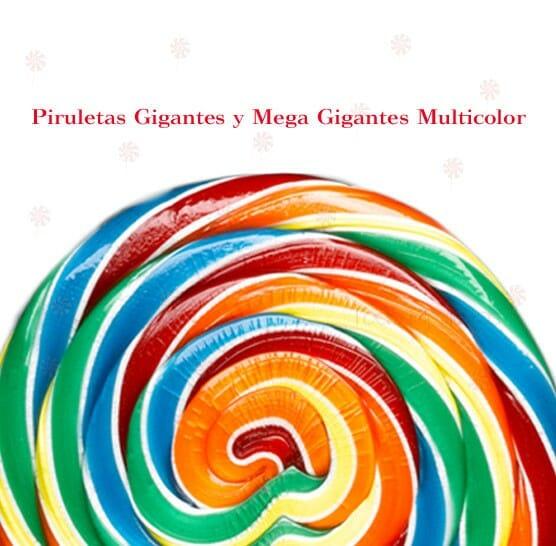 Piruletas Multicolores Gigantes y Mega Gigantes