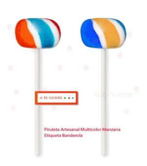 Piruletas Artesanales Manzanitas Personalizadas Multicolor
