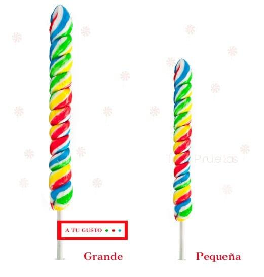 Piruleta Piruli Multicolor Personalizado