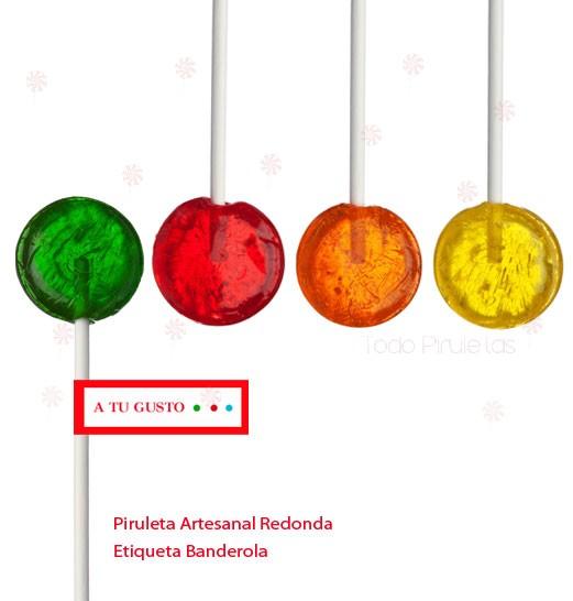 Piruletas Artesanas Redondas Personalizadas