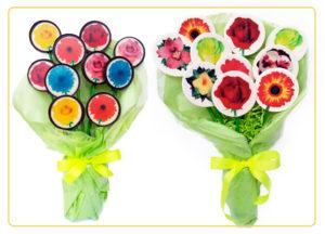 Piruletas San Valentín Ramo de Flores