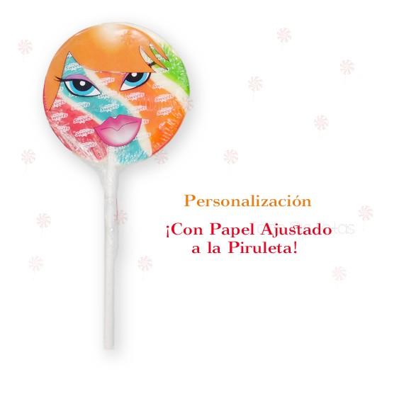 Piruleta Multicolor Mediana Redonda Personalizadas