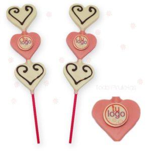 Piruleta Chocolate 3 Corazón regalo empresas