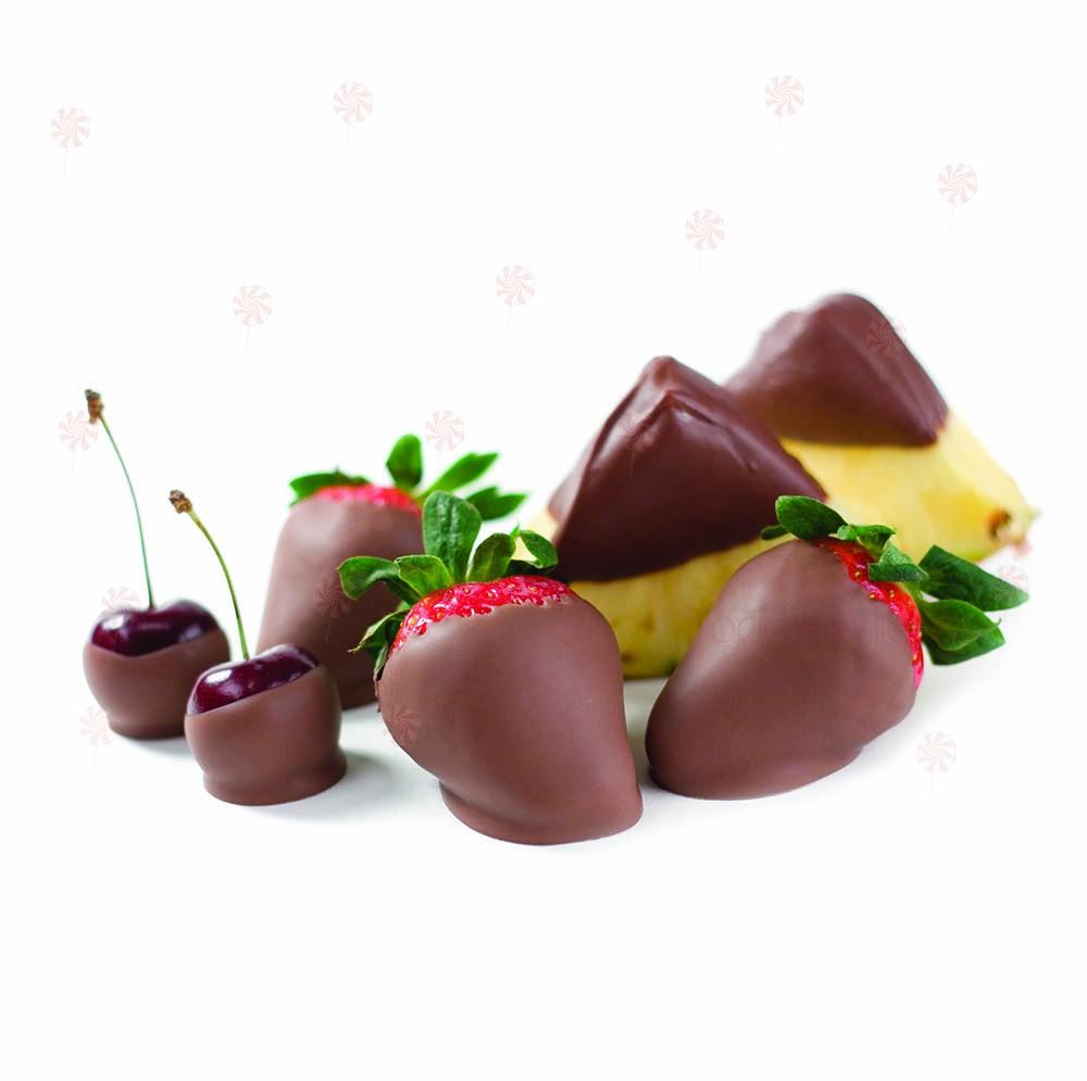 Deliciosa Fruta cubierta de cremoso chocolate Founde