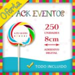 Pack Eventos - Piruletas Multicolor Redondas Medianas