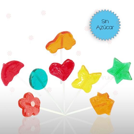 Piruletas Fantasía Mini Sin Azúcar Surtidas