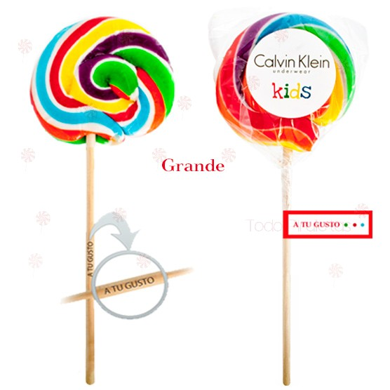 Piruletas Multicolor Redonda Artesanal Grande 100 mm