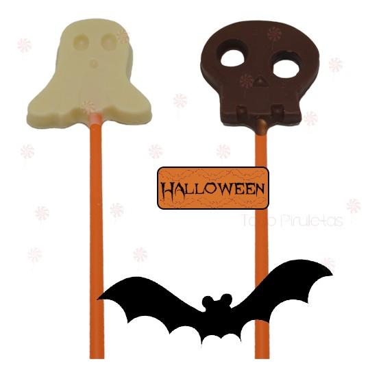 Piruletas Halloween Chocolate con Diferentes Formas