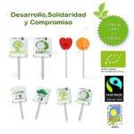 Piruletas Ecológicas y Comercio Justo Personalizadas