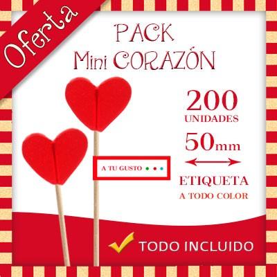 Pack San Valentín - Piruletas Mini Corazón Personalizadas