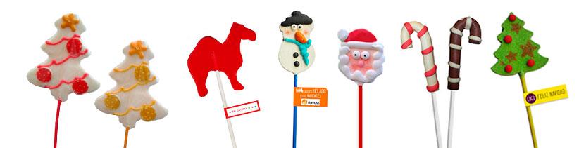 piruletas navidad personalizadas