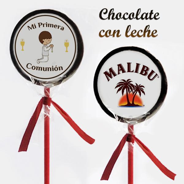 Piruletas Impresas Chocolate con Leche