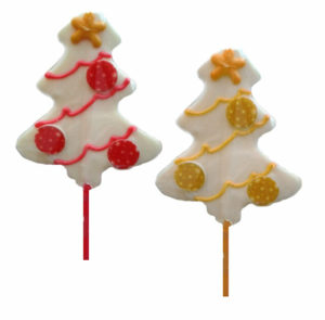 Piruletas de Chocolate Navidad
