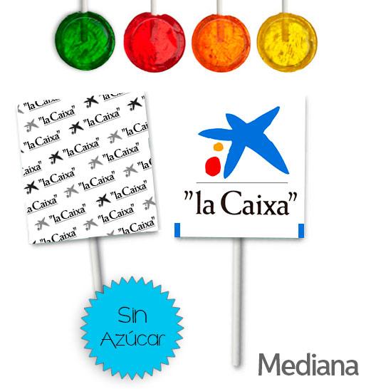Piruletas Personalizadas Clásicas Redondas Sin Azúcar Medianas