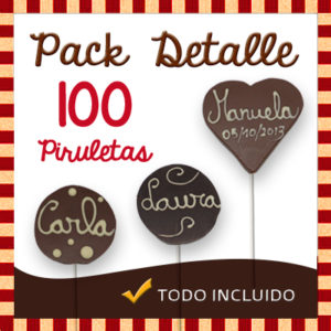 Pack Detalle Celebracion - Piruletas Chocolate Personalizada